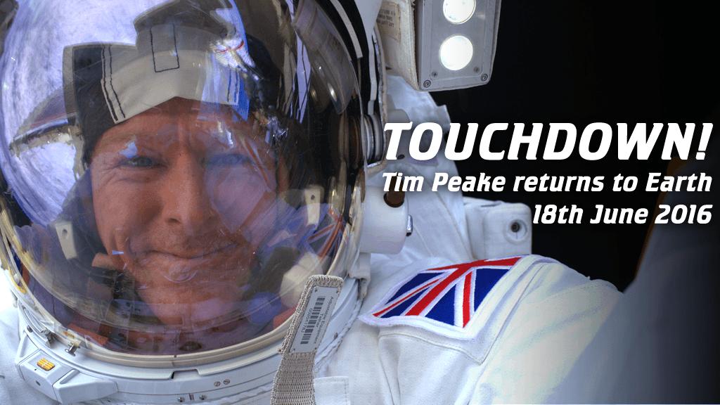 Tim Peake Touchdown
